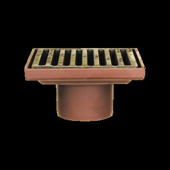 Защитная решетка водосточной воронки для автостоянки и надставной элемент  защитная решетка