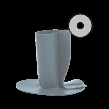 Круглая парапетная воронка с подогревом с приваренным оригинальным фартуком  круглая парапетная воронка с подогревом