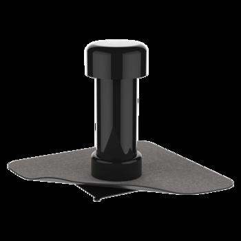 Парапетная воронка квадратного сечения с приваренным фартуком из ПВХ-мембраны  парапетная воронка квадратного сечения