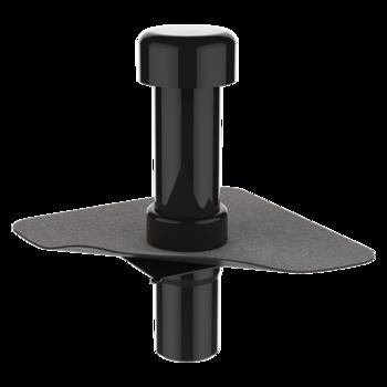 Парапетная воронка квадратного сечения с приваренным оригинальным фартуком  парапетная воронка квадратного сечения