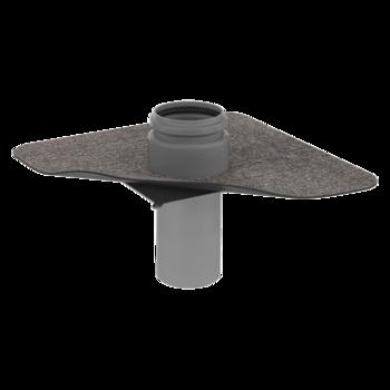 Парапетная воронка без трубы с приваренным битумным фартуком  битумный фартук