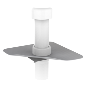 Вентиляционный выход для канализационных стояков с приваренным фартуком из ПВХ-мембраны  вентиляционный выход