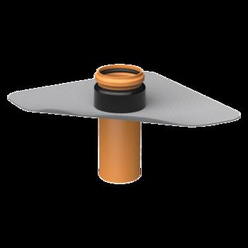 Проходка через пароизоляцию XL с приваренным фартуком из ПВХ-мембраны  проходка через пароизоляцию XL