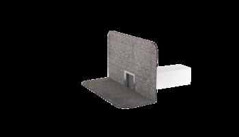 Ремонтный вентиляционный выход с приваренным фартуком из ПВХ-мембраны  ремонтный вентиляционный выход