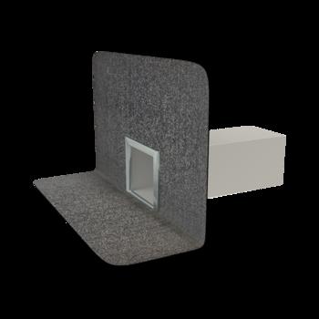 Парапетная воронка квадратного сечения с приваренным битумным фартуком