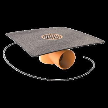 Проходка для кабелей с приваренным фартуком из ПВХ-мембраны  проходка для кабелей