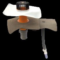 Вентиляционный выход для канализационных стояков XL с приваренным оригинальным фартуком  вентиляционный выход XL
