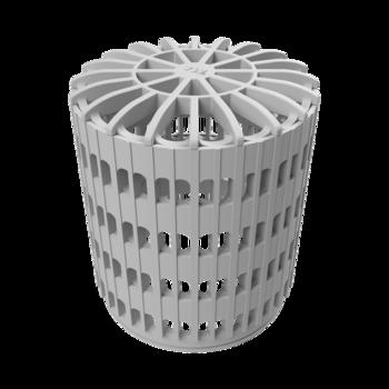 Террасная воронка вертикальная с приваренным фартуком из ПВХ-мембраны  вертикальная