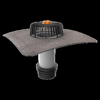 Террасная воронка вертикальная с подогревом с приваренным фартуком из ПВХ-мембраны  вертикальная с подогревом
