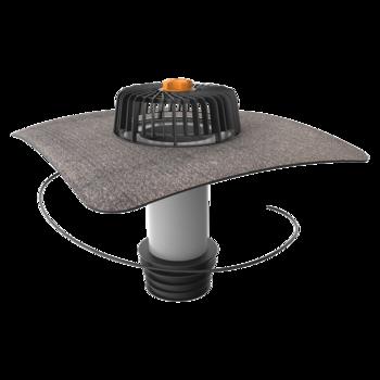 Ремонтная воронка вертикальная с подогревом с приваренным битумным фартуком