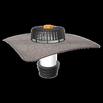 Террасная воронка горизонтальная с подогревом с приваренным фартуком из ПВХ-мембраны  горизонтальная с подогревом