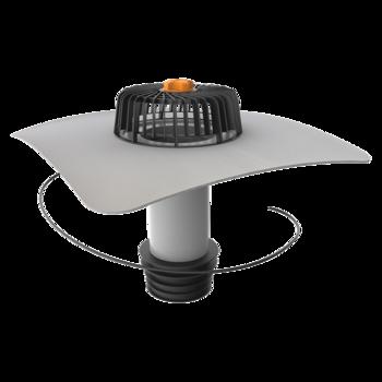 Ремонтная воронка вертикальная с подогревом с приваренным фартуком из ПВХ-мембраны