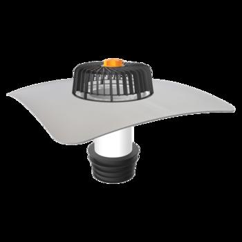 Террасная воронка горизонтальная с подогревом с приваренным оригинальным фартуком  горизонтальная с подогревом