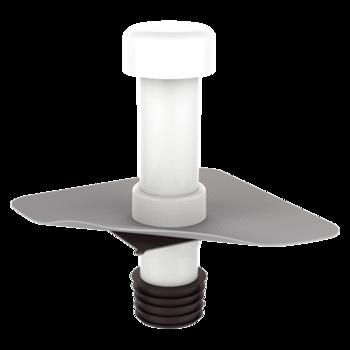 Ремонтный вентиляционный выход с приваренным фартуком из ПВХ-мембраны
