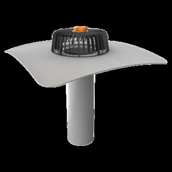 Ремонтная воронка вертикальная с приваренным битумным фартуком  вертикальная