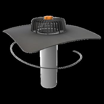 Ремонтная воронка вертикальная с приваренным фартуком из ПВХ-мембраны  вертикальная
