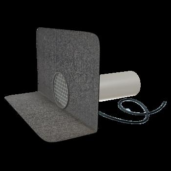 Воронка водосточная для балконов горизонтальная с приваренным фартуком из ПВХ-мембраны  горизонтальная