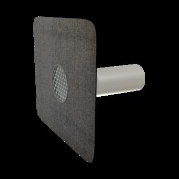 Воронка водосточная для балконов горизонтальная с подогревом с приваренным фартуком из ПВХ-мембраны  горизонтальная с подогревом
