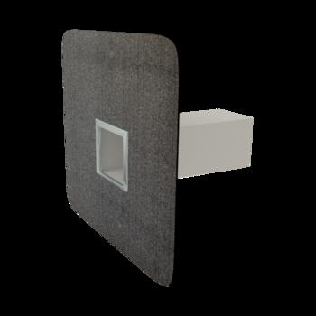Воронка водосточная для балконов вертикальная с приваренным фартуком для примыкания к покрытию пола  вертикальная