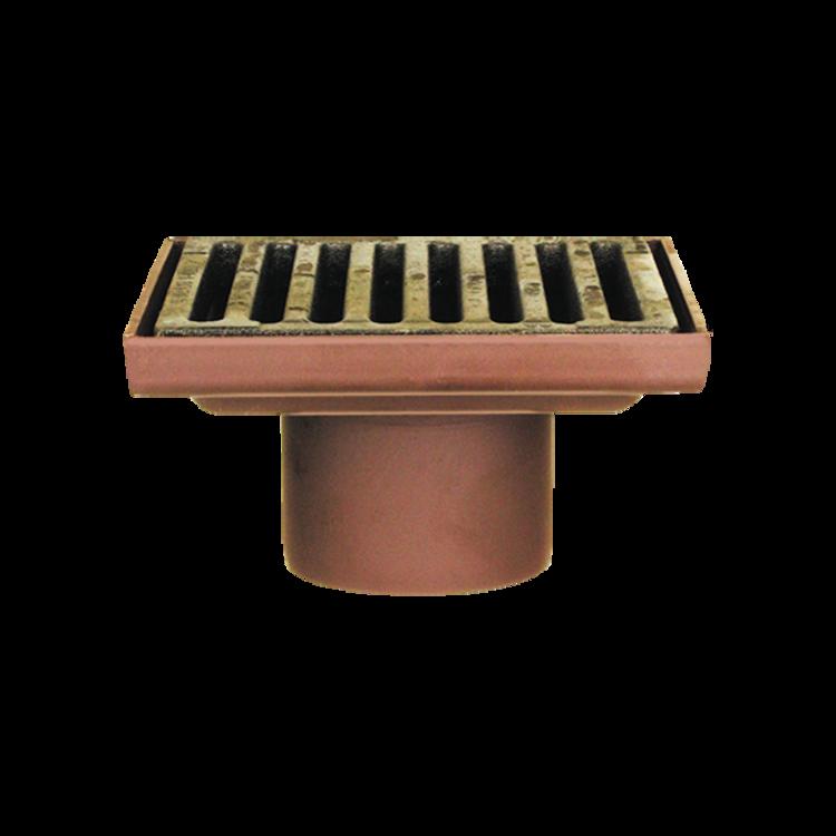 Защитная решетка водосточной воронки для автостоянки и надставной элемент