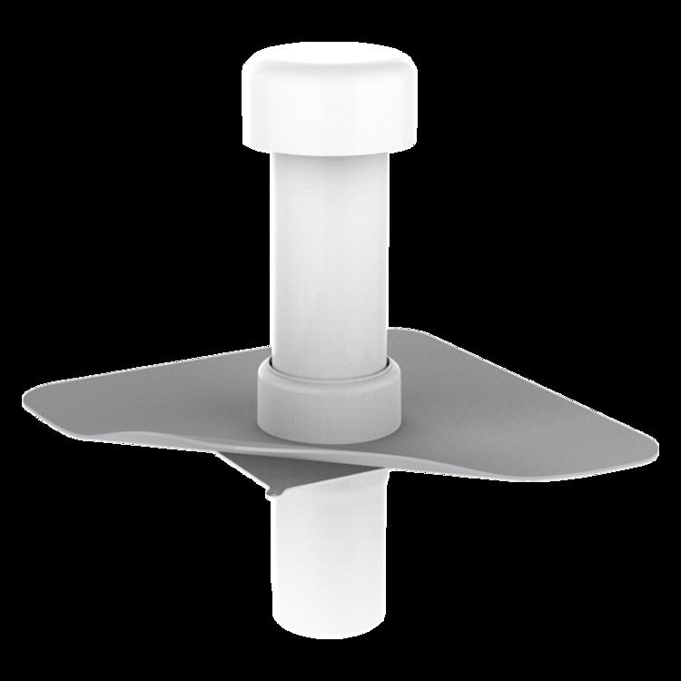 Вентиляционный выход для канализационных стояков с приваренным фартуком из ПВХ-мембраны