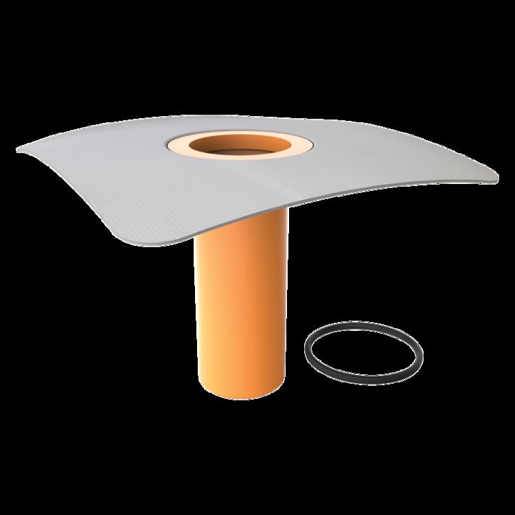 Надставный элемент для кровельных воронок с приваренным фартуком из ПВХ-мембраны