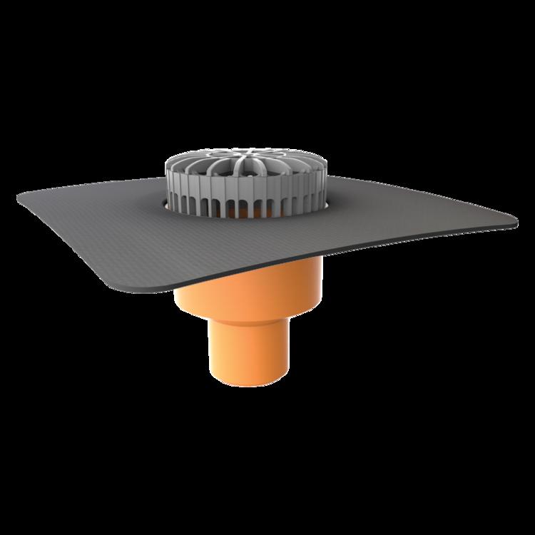 Террасная воронка вертикальная с приваренным оригинальным фартуком