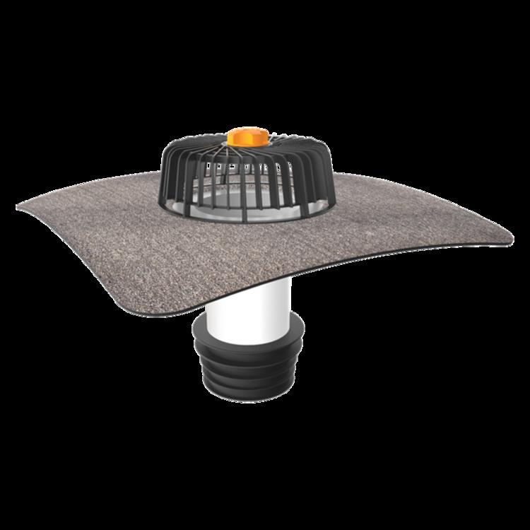 Ремонтная воронка для кровель без теплоизоляции с приваренным битумным фартуком для кровель без теплоизоляции