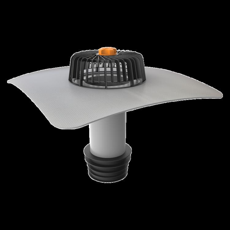 Ремонтная воронка вертикальная с приваренным фартуком из ПВХ-мембраны