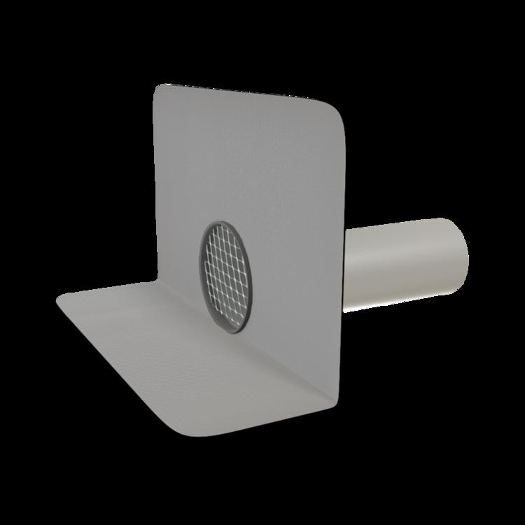 Круглая парапетная воронка с приваренным фартуком из ПВХ-мембраны