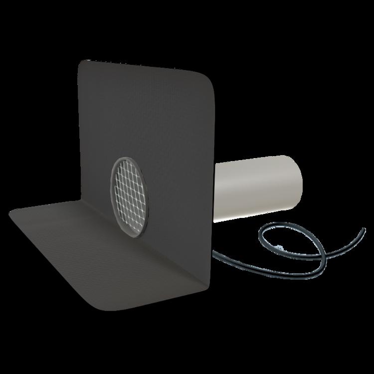 Круглая парапетная воронка с подогревом с приваренным оригинальным фартуком