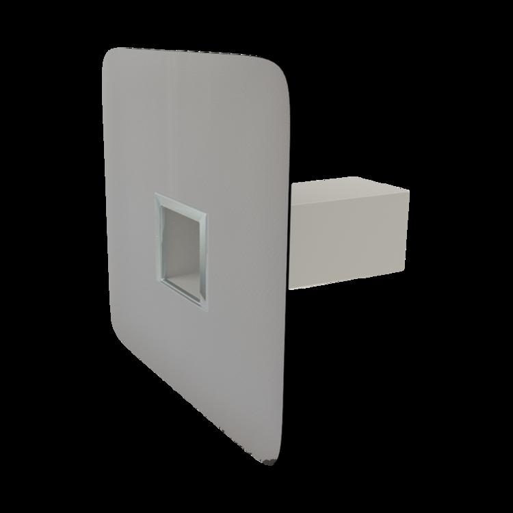 Аварийный перелив квадратного сечения с приваренным фартуком из ПВХ-мембраны аварийный перелив квадратного сечения