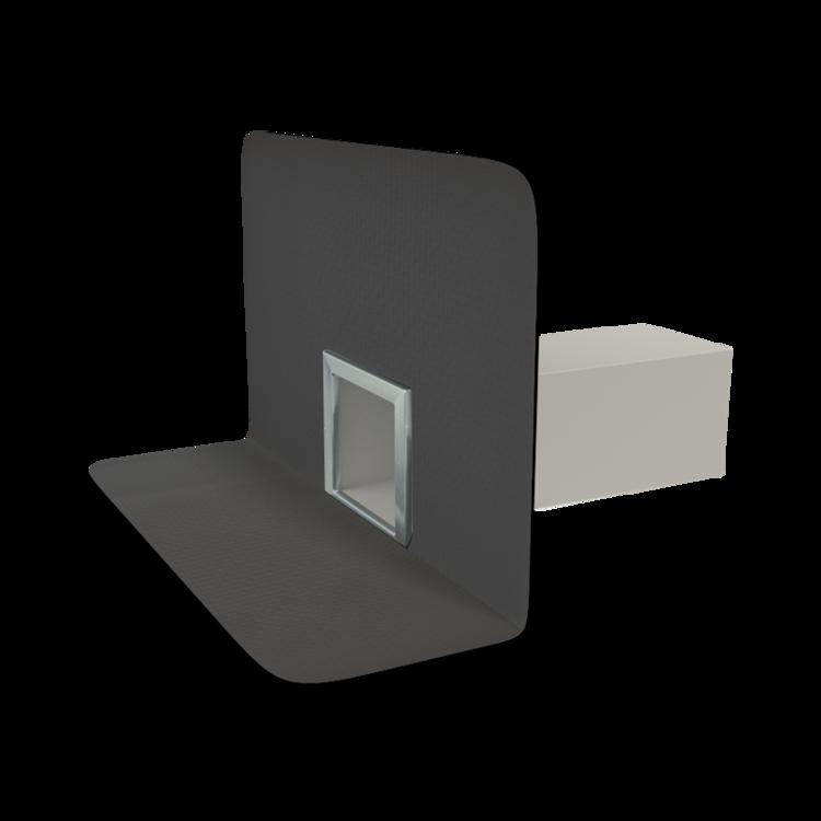 Парапетная воронка квадратного сечения с приваренным оригинальным фартуком